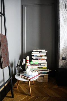Chambre Rangement de livres Appartement Paris David Chaplain et Alexandre Roussard