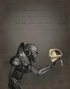 Cylon Battlestar Galactica 11 x 14 Print by Frakit on Etsy