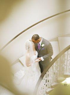 Washington DC Wedding Ceremony First Look 1 275x374 Modern Meets Vintage Wedding Ceremony in Washington DC: Jessica + Ian