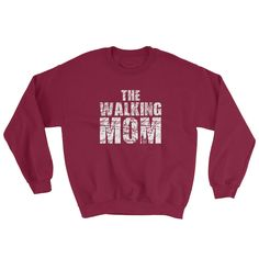 Excited to share the latest addition to my #etsy shop: Mom Gifts For Christmas / The Walking Mom / Mom Shirt / Mother And Son / Gift For Mom / Zombie Post Apocalyptic Sweatshirt Gift http://etsy.me/2zlDP1L #clothing #hoodie #thewalkingdead #thewalkingmom #momgifts #forchristmas