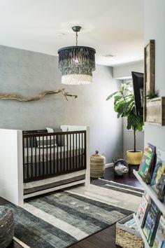 Oilo Design Challenge- Cast your vote! Nursery Design Blue Gray Drift Wood Pendant Light Beach White Fig Tree