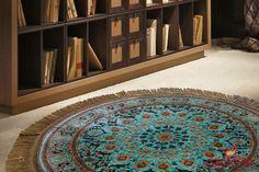 فرش ماشینی گرد مشهد اردهال، 500 شانه جنس نخ پلی استر قطر یک متر قیمت118 هزار تومان