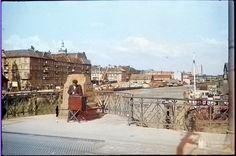 Кёнигсберг. Деревянный мост, вид на набережную Закхайма (сегодня это набережная за зданием Художественной галлереи), фото ок. 1940 года
