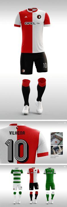 FEYENOORD. Proyecto camisetas de fantasía. #Jersey #Feyenoord #adidas #eredivisie #futbol #soccer #football
