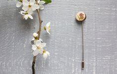 Little pink flower brooch  Pink flower brooch  by tanukdolotova