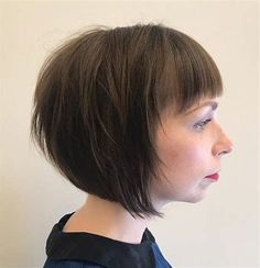 Images Inverted Bob Hairstyles, New Short Hairstyles, Bob Hairstyles With Bangs, Haircuts For Fine Hair, Short Bob Haircuts, Hairstyles Haircuts, Straight Hairstyles, Braided Hairstyles, Wedding Hairstyles