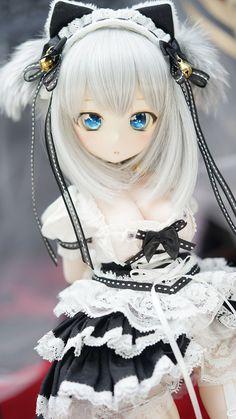 Anime Dolls, Ooak Dolls, Pretty Dolls, Cute Dolls, Cute Neko Girl, Barbie Images, Black Spiderman, Anime Muslim, Cute Kawaii Drawings