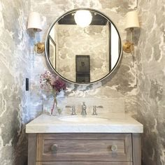 Chic powder room features walls clad in gray clouds wallpaper, Fornasetti Nuvole… Traditional Bathroom, Living Room Paint, Powder Room, Room Wallpaper, Painted Closet, Painting Bathroom, Interior Paint Colors, Powder Room Wallpaper, Bathroom Design