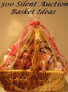 If you are looking for some silent auction basket ideas, here are 500 ideas for basket themes and fun names for your auction baskets. Browse hundreds of auction basket ideas for men, teens, kids, teachers, fun nights and more.
