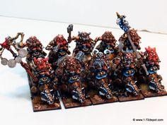 28mm – Mantic Games – Dwarf Berserker Brock Riders Regiment | 1/72 Depot. Miniatures – Plastic Soldier – Scale Models – Diecast