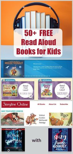 50 FREE Read Aloud Books Online - websites and apps that offer free audio books and stories for toddlers preschoolers big kids tweens and teens! Perfect for reading on the go vacations road trips and tech in the classroom! Audio Books For Kids, Free Kids Books, Online Books For Kids, Free Books Online, Toddler Books, Online Websites, Free Audio Books, Free Story Books, Free Stories