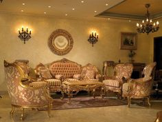 Beau Egyptian Style Gold Living Rooms, Living Room Furniture, Living Room Decor,  Antique Living