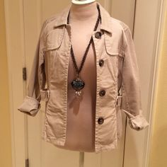 Old Navy Corduroy Jacket Short tan corduroy trench style jacket. Super cute with jeans. Like New! Old Navy Jackets & Coats Blazers