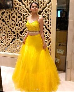 Latest Trending Bollywood Styles Yellow Mehendi Lehenga Choli Collection@ Trendylehenga Couture Buy Online Designer Collection, :Call/ WhatsApp us 77164 . Indian Gowns Dresses, Bridal Dresses, Prom Dresses, Evening Dresses, Indian Wedding Outfits, Indian Outfits, Indian Weddings, Indian Designer Outfits, Designer Dresses