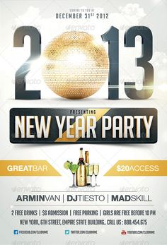 25+ Best New Year & Christmas Flyer Templates of 2013   Frip.in