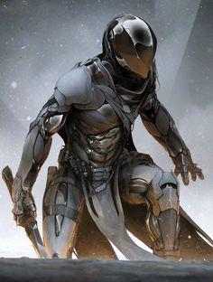 Science Fiction Armor Sci Fi Fantasy 69 Ideas For 2020 Arte Ninja, Arte Robot, Robot Art, Science Fiction, Science Art, Fantasy Armor, Sci Fi Fantasy, Armor Concept, Concept Art