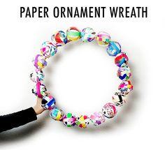 alisaburke: paper ornament wreath