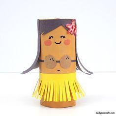 Mais ideias criativas com rolo de papel higiênico_TP-Roll-girl-craft-kids