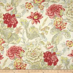 Waverly Fabric Sublime Crimson Coral 1 yard x by BlackCreekFabrics Home Decor Fabric, Fabric Art, Fabric Design, Hall Wallpaper, Fabric Wallpaper, Waverly Fabric, Home Decor Shops, Fabulous Fabrics, Paint Designs