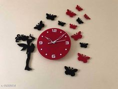 Clocks Trendy Acrylic Wall Clock Material: Plastic Pack: Pack of 1 Country of Origin: India Sizes Available: Free Size   Catalog Rating: ★4.1 (2055)  Catalog Name: Graceful Wall Clocks CatalogID_1798937 C127-SC1440 Code: 094-10056614-5511
