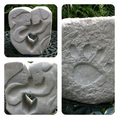 Stone sculpture in Portland stone. Called I Love my Dog. It has been given to my stepdaughter in memory of her dog who she lost last year.