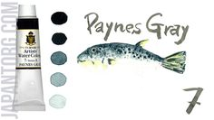 TURNER Artists' Water Colour, Art Paints Colour Name : Paynes Gray Code : 7 /A Light Fastness : Excellent Transparency:C (Opaque) Capacity : 15 ml  #painting #artists #water #colour #paynes #gray #sample