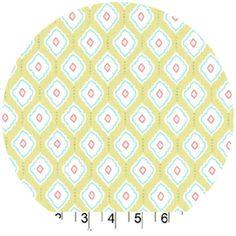 Patty Sloniger Medallions Green  fabricworm  $10/yd