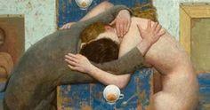 ΚΟΝΤΑ ΣΑΣ: Οι αγκαλιές «σκοτώνουν» την κατάθλιψη. Agyness Deyn, Hold My Hand, Happy Valentines Day, Painting & Drawing, Drawings, Artist, Artwork, Kiss, Lovers