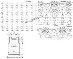 Схемы и выкройка для вязания туники