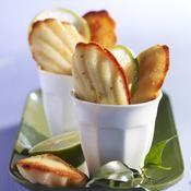 Madeleines au citron vert - une recette G�teau - Cuisine
