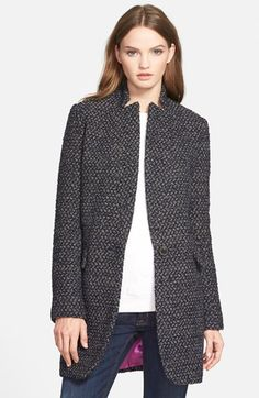 BCBGeneration Inverted Notch Tweed Coat available at #Nordstrom