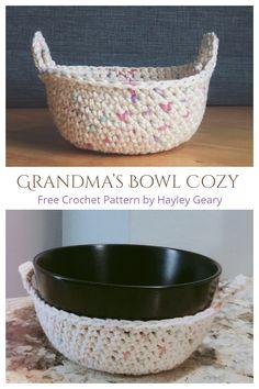 Crochet Bowl, Crochet Yarn, Easy Crochet, Cotton Crochet Patterns, All Free Crochet, Crochet Summer, Knitting Patterns, Crochet Hot Pads, Crochet Dishcloths