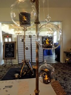 "Can attached to our 42"" tall gold, black, or silver candle stands. Candle Stands, Table Centerpieces, Different Colors, Light Bulb, Candles, Silver, Gold, House, Black"