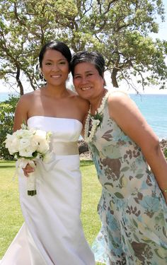 Me and Mom on my wedding day (Turtle Bay Resort, Honolulu, HI). Thank you for everything, Mom! @walgreens #HallmarkAtWalgreens #CareWithACard #sponsored