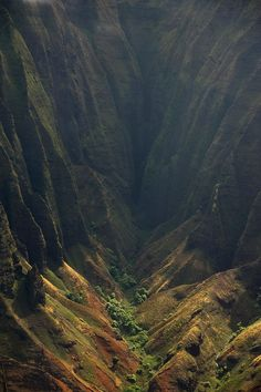 A valley in the #Kalalau Trail, #Hawaii #Travel #Destinations ...via @Rachel G Saddler from Facebook.