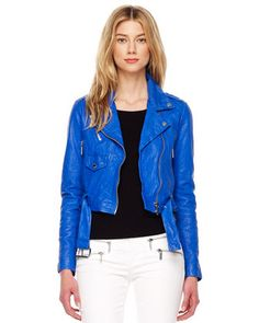 I. NEED. THIS. Cropped Crinkled Leather Jacket, Womens by MICHAEL #Kors at @Neiman Marcus