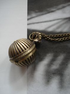 Necklace Pendant Shell bronze Pocket Watch by Azuraccessories, $5.93