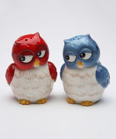 Another great find on #zulily! Couple Owls Salt & Pepper Shakers #zulilyfinds