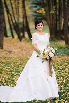 Bride in Oscar de la Renta Gown | Brides.com