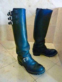 Tall Leather Boots, Tall Boots, Engineer Boots, Chopper, Riding Boots, Toe, Fashion, Boots, Zapatos