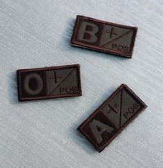 Blood Type APos/BPos/CPos Patches Military by GothicChameleon