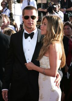 Jennifer Aniston and Brad Pitt - 2004 Primetime Emmy Awards - Arrivals