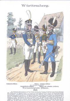 Band III #55. Württemberg. Würtembergische Offiziere. 1812.