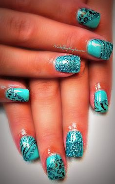 THESE ARE MY FAVORITE NAILS I HAVE YET TO SEE ON PINTEREST TODAY!! :D