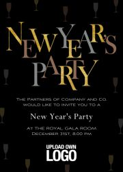 new years party dunkel online dark new years party celebration card with gold and silver text eventkingdom new years party invitations