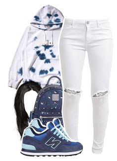 """not sure how i feel about it"" by lovebrii-xo ❤ liked on Polyvore featuring FUCT, MCM, FiveUnits and New Balance"