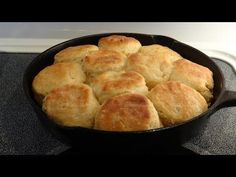 Southern Angel Biscuits, Mamaw's Recipe too! Let's Cook 'em Up in a Cast Iron Skillet - YouTube