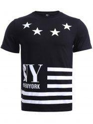 Star Stripes Pattern T-Shirt