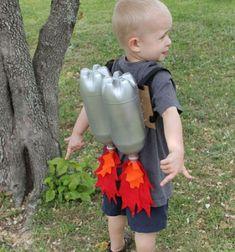 Jet pack from plastic bottles - fun costume for kids // Jet-pack ( háti rakéta ) műanyag palackból és filcből - jelmez // Mindy - craft tutorial collection // #crafts #DIY #craftTutorial #tutorial #DIYClothesForKids