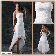 best beach wedding dress hi lo | High Quality white hi lo wedding dress- Buy white hi lo wedding dress ...